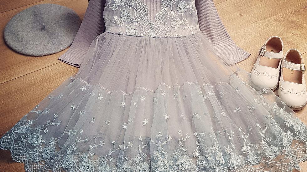 Grey (ish) vintage party dress