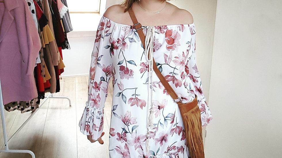 White loose hippie dress