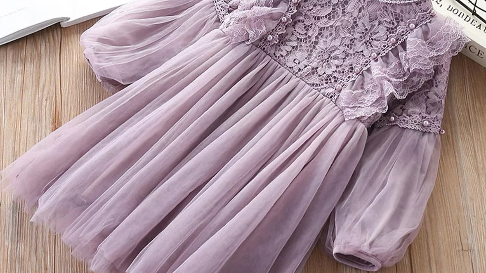 Light violet/lavender part dress with tulle