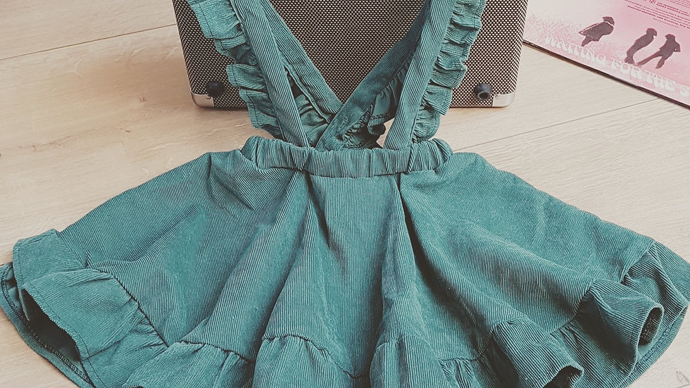 Green courdroy dress