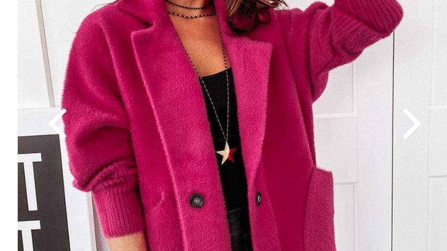 Coat with alpaca wool oversize