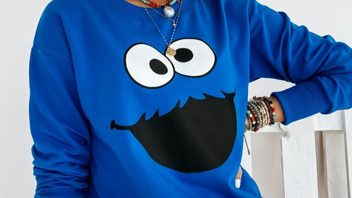 Cotton sweat top COOKIE MONSTER1