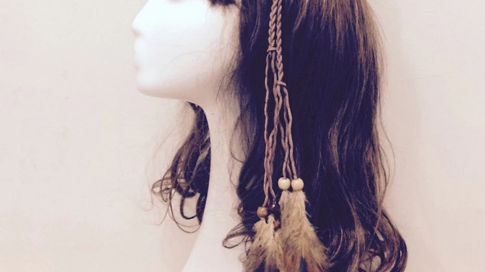 Feather necklace/hair band