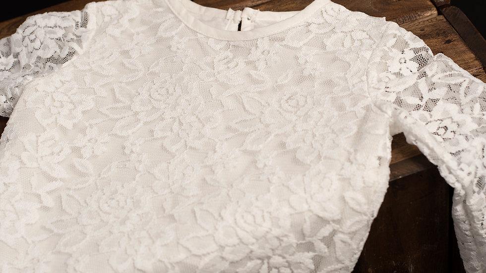 Lace broken white dress