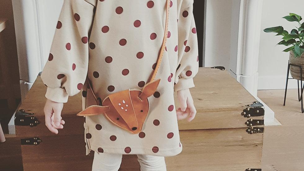 Beige cotton dress, very warm
