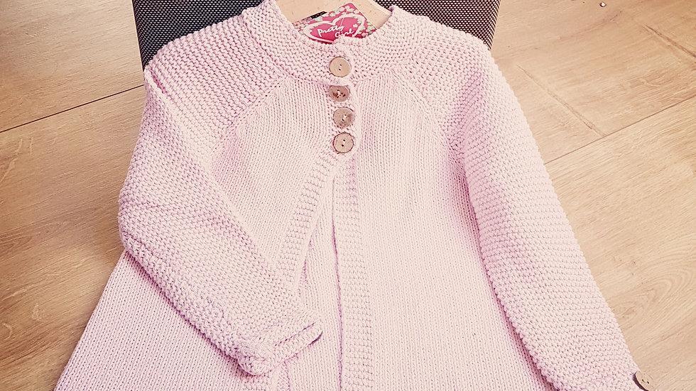 Light pink cotton knitten cardigan