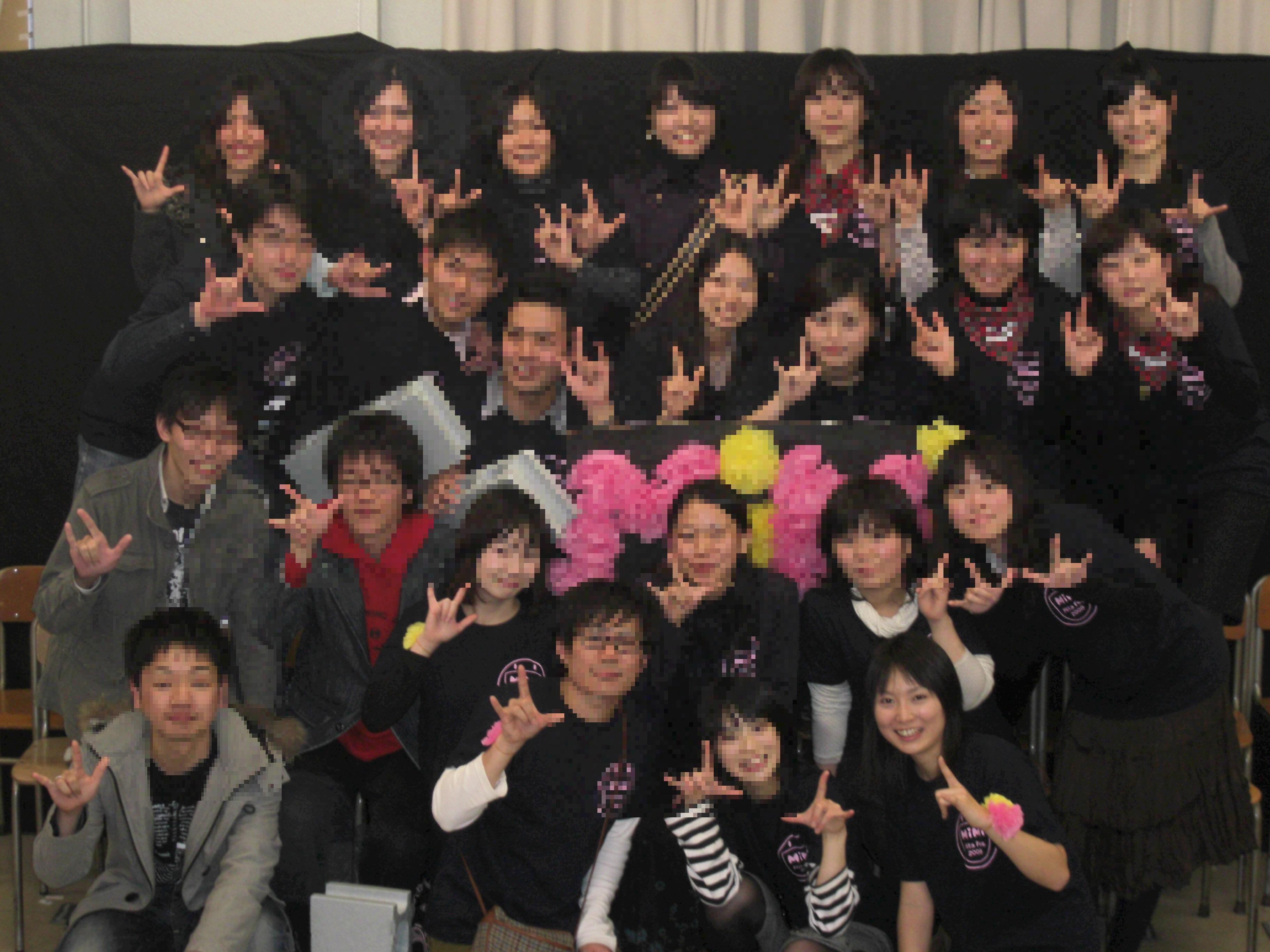 手話サークルMiMi三田祭・同期集合写真/2008