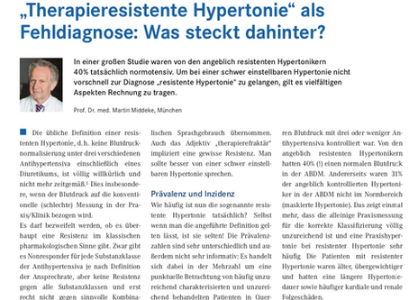 """Therapieresistente Hypertonie"" als Fehldiagnose: Was steckt dahinter?"