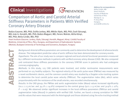 Comparison of aortic and carotid arterial stiffness parameters