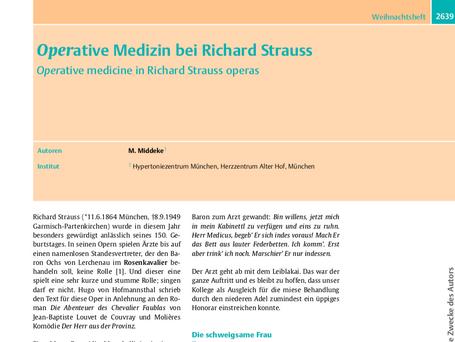 Operative Medizin bei Richard Strauss