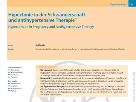 Hypertonie in der Schwangerschaft und antihypertensive Therapie