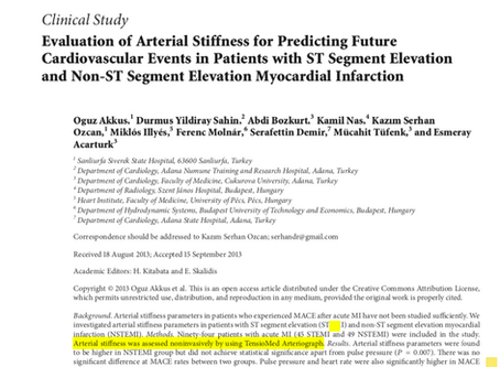 Evaluation of arterial stiffness for predicting future cardiovascular events in patients with ST