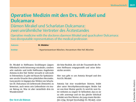 Operative Medizin mit den Drs. Mirakel und Dulcamara
