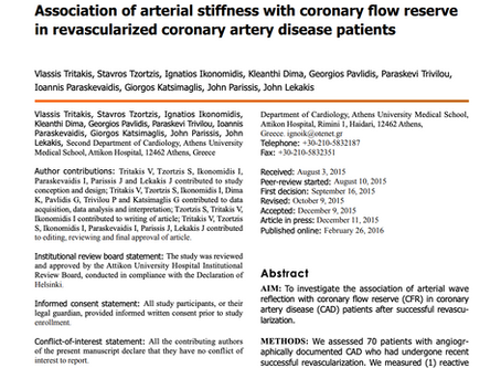 Association of arterial stiffness with coronary flow reserve