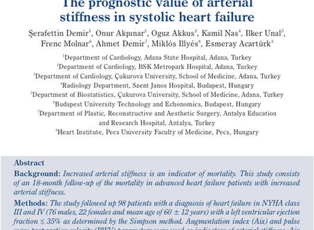 The prognostic value of arterial stiffness in systolic heart failure.