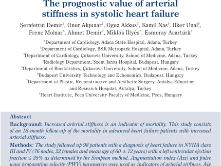 The prognostic value of arterial stiffness in systolic heart failure.