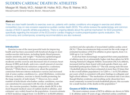 Sudden Cardiac Death in Athletes.