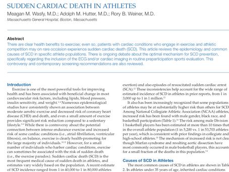 Sudden Cardiac Death in Athletes.