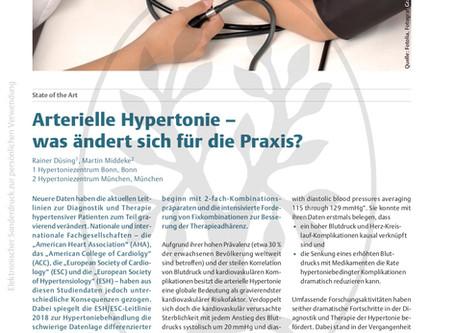 Arterielle Hypertonie - was ändert sich für die Praxis?