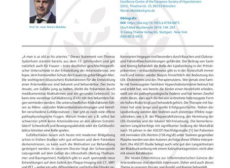 Entwicklung, Diagnose und Prävention der Arteriosklerose