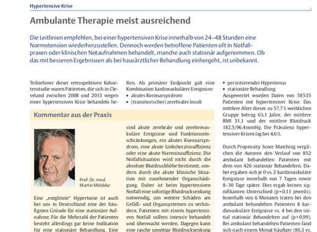 Ambulante Therapie meist ausreichend