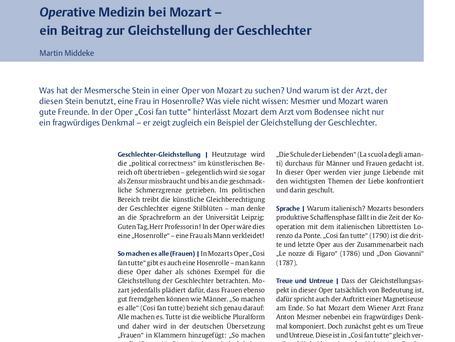 Operative Medizin bei Mozart