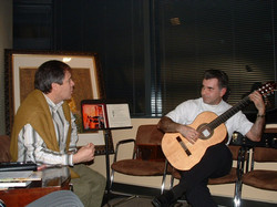 With Jorge Fuentes ambassador