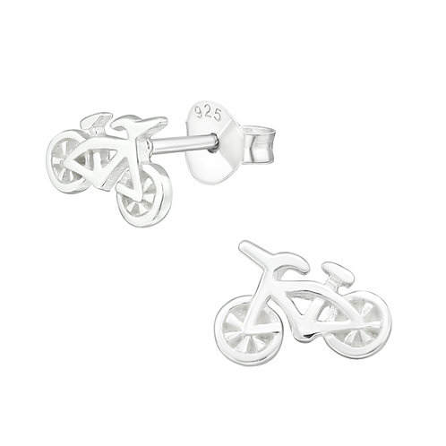 Bicycle Sterling Silver Studs
