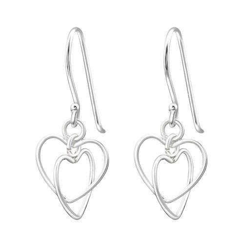 Twisted Heart Sterling Silver Earring