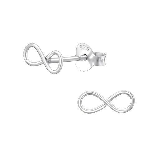 Infinity Sterling Silver Studs