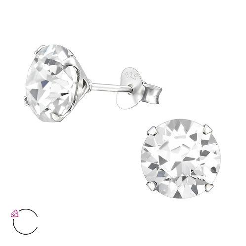 Crystal Swarovski Sterling Silver Stud Earrings