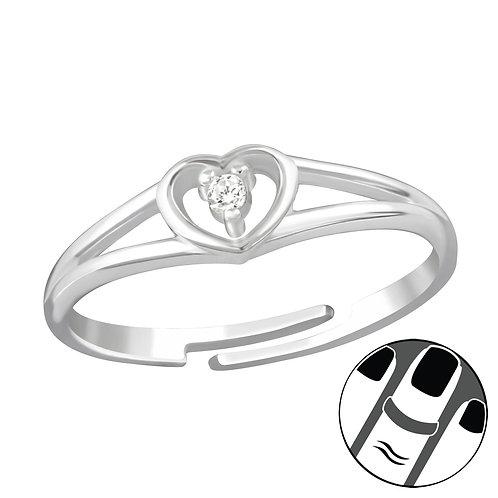 Heart Sterling Silver Midi or Children's Ring