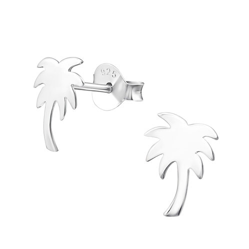 Palm Tree Sterling Silver Earrings