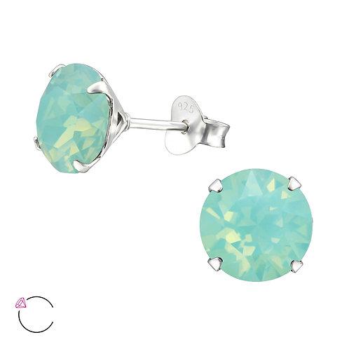Pacific Opal Crystal Swarovski Sterling Silver Stud Earrings