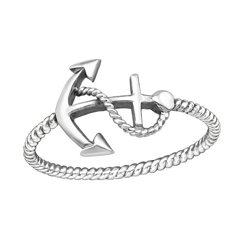 Anchor Sterling Silver Ring