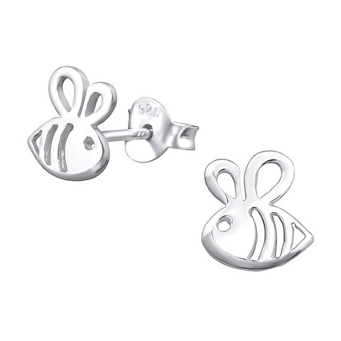 Bee Sterling Silver Studs