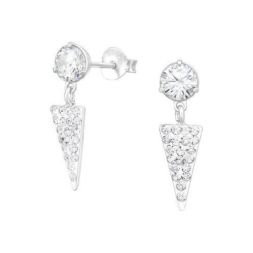 Estelle Sterling Silver Cubic Zirconia Ear Studs