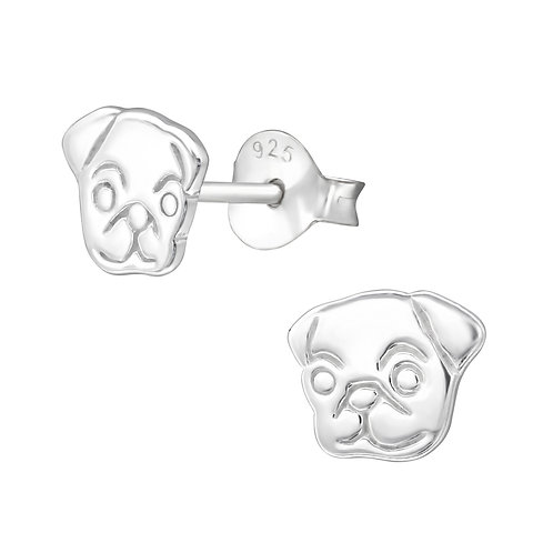 Dog Sterling Silver Studs
