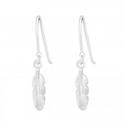 Feather Sterling Silver Earrings