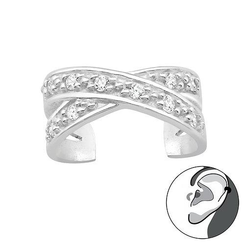 Cross Sterling Silver Ear Cuff
