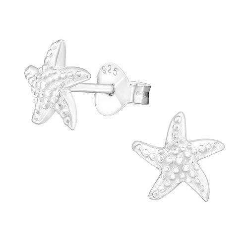 Star Fish Sterling Silver Stud