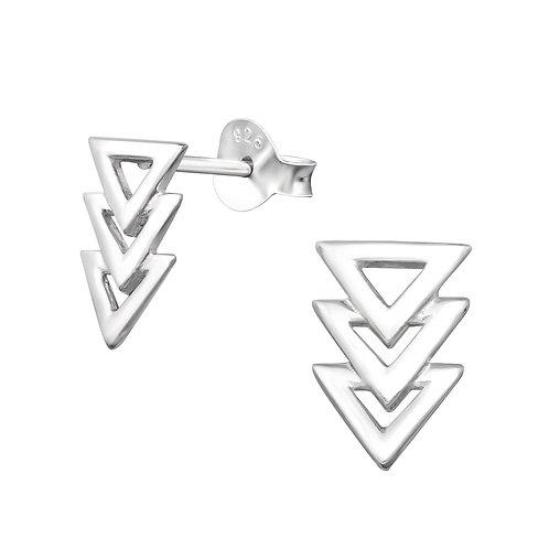Triangle Sterling Silver Stud Earrings