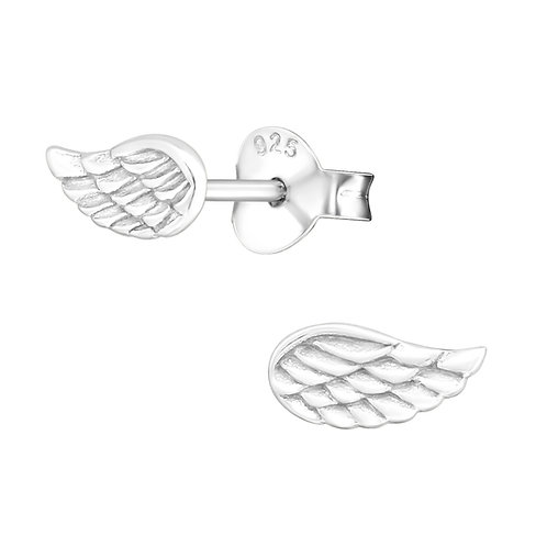 Angel Wing Sterling Silver Studs