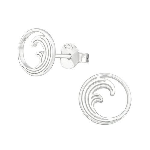 Wave Sterling Silver Studs