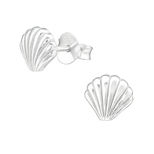 Sea Shell Sterling Silver Studs