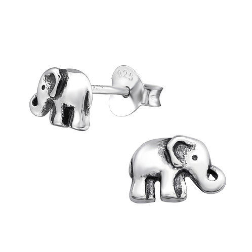 Elephant Sterling Silver Studs
