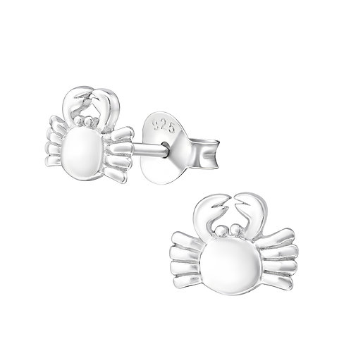 Crab Sterling Silver Studs