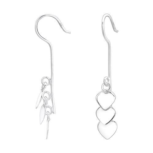 Heart Drop Sterling Silver Earring