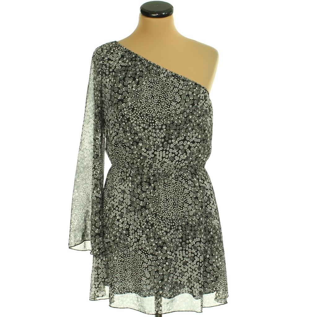 Fekete-Fehér muszlin ruha