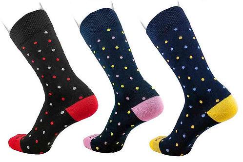 Medium Dress Socks Polka Dot
